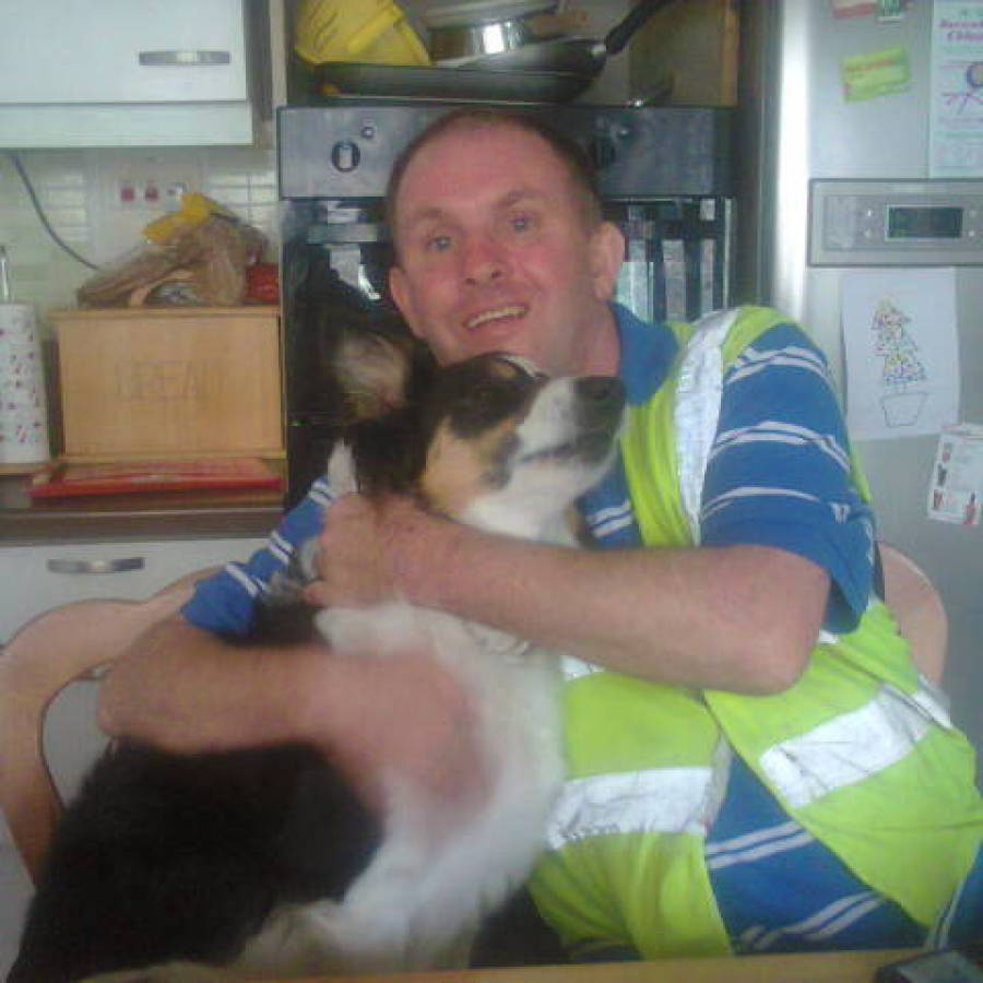 client with dog